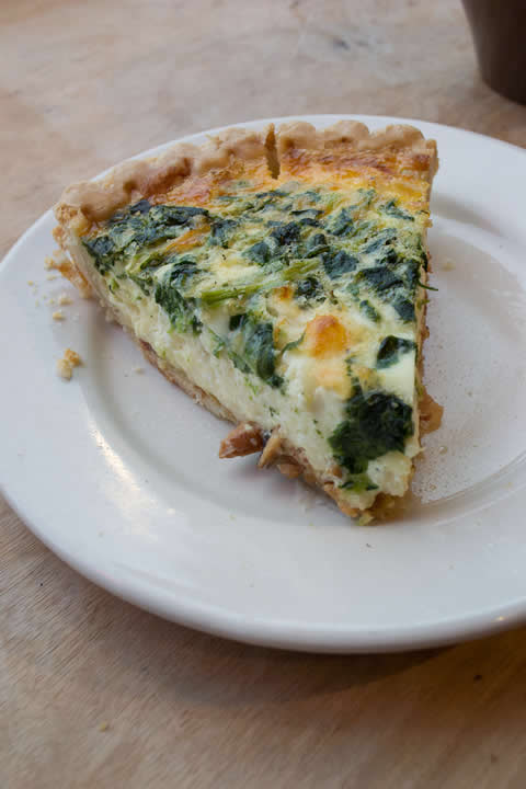 Spinach Florentine Quiche at Rev Coffee