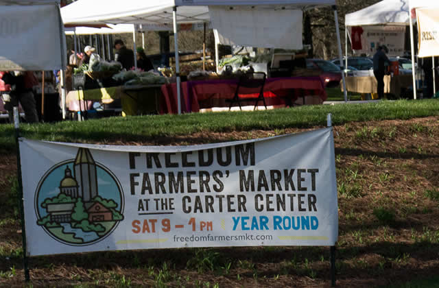 Freedom Farmers market sign