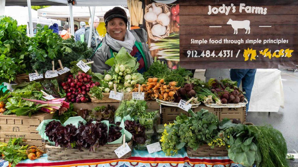 Jody at the Marietta Farmers Market