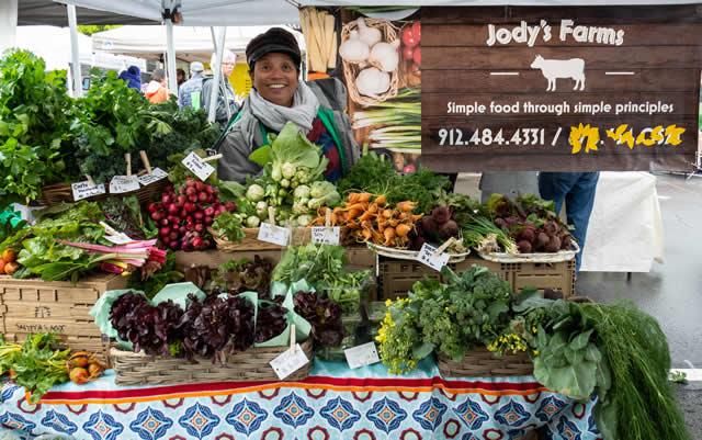 Jody at Marietta Farmers market