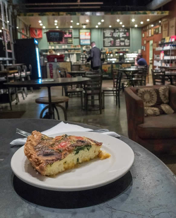 Veggie Quiche at Rev Coffee