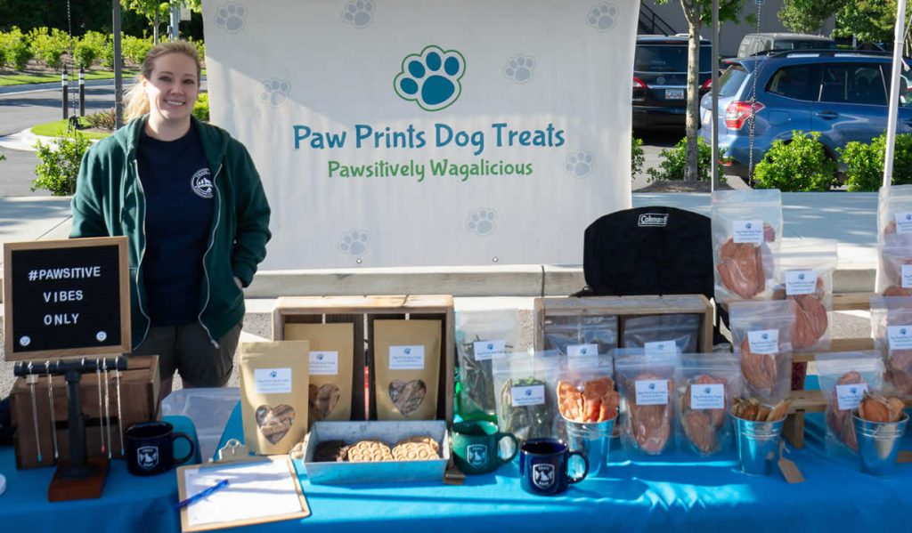 Kate Bunting with Paw Prints Dog Treats