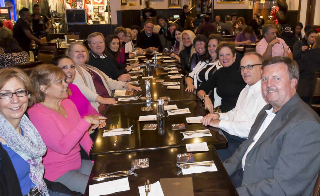 Williamsburg Travel Leaders having dinner at Hardrock Cafe