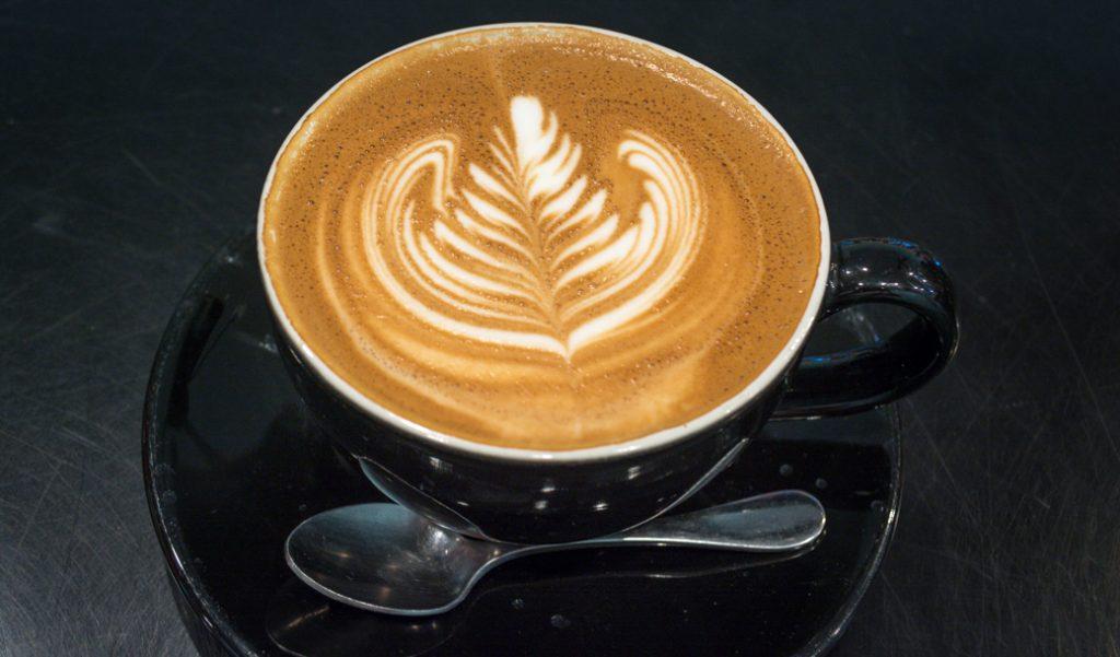 Espresso art at Aurora Coffee