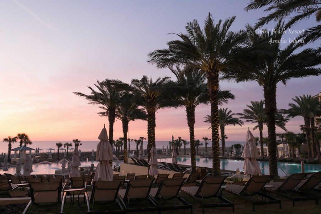 Sunrise at the Omni Amelia Island Pool