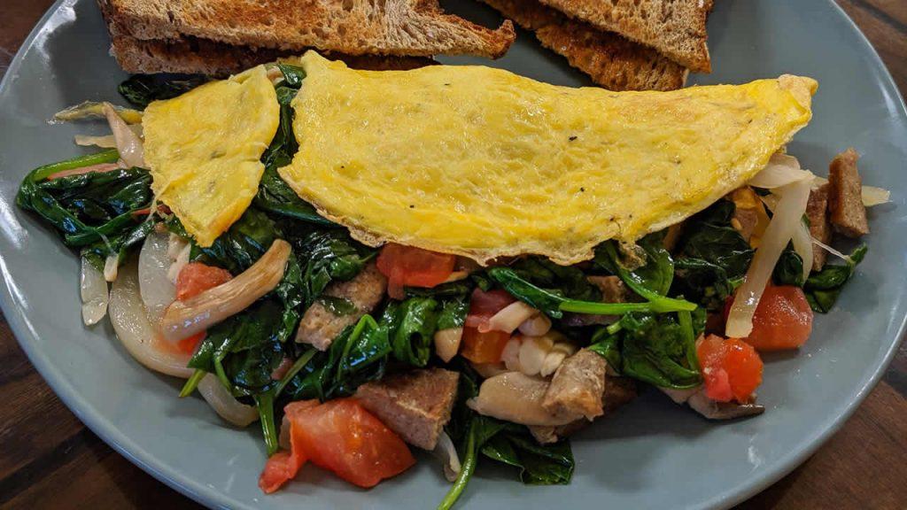 omelette at Nassau Health Foods