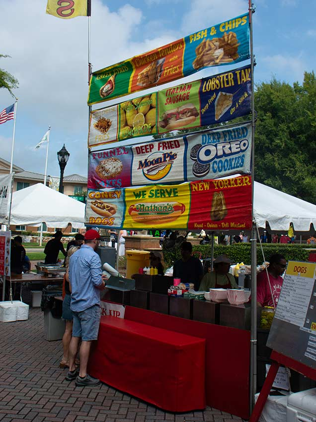 Food Booth at Smyrna Food Festival