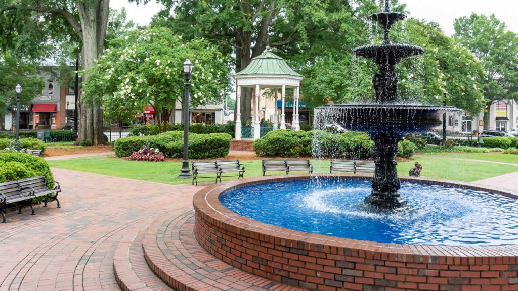 Fountain in the Marietta Square