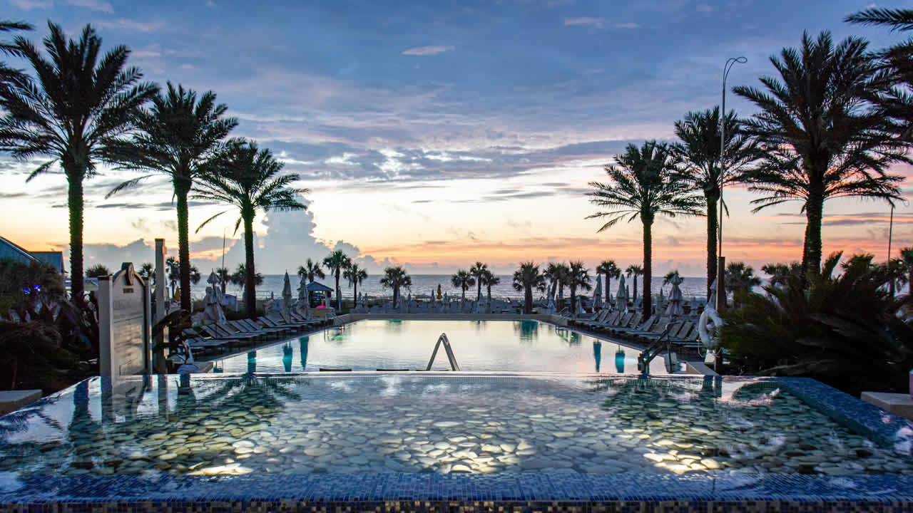 Sunrise at the Omni Amelia Island Plantation Pool